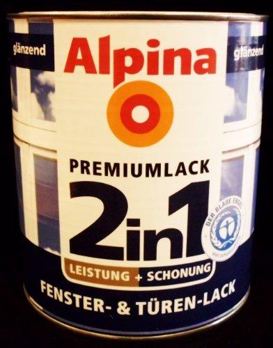 ALPINA 2in1 Premium Fenster T�ren Lack wei� gl�nzend 250 ml NEU