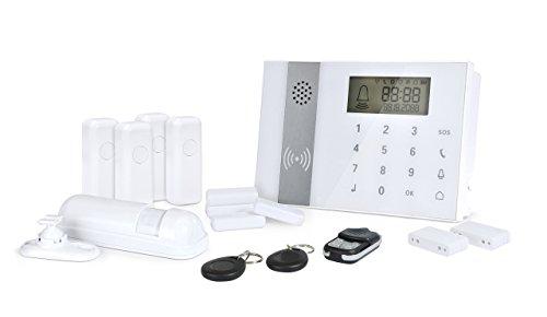 Zoomyo GSM Funk Alarmanlagen-Set Z-ALARM-009 inkl. 9-tlg. Zubeh�r - bis zu 98 Sensoren! Touchbedienfeld und RFID- / Kontaktchip