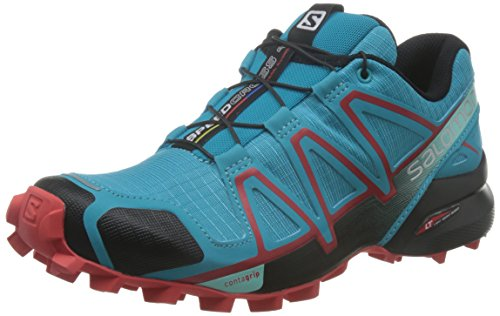 Salomon Damen Speedcross 4 Traillaufschuhe, Blau (Blue Jay/Black/Infrared), 40 2/3 EU