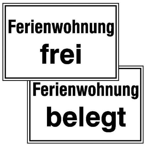 Ferienwohnung frei Hinweisschild, Kunststoff, 30x20 cm