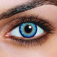 Farbige Sky Hellblaue Kontaktlinsen + 1 GRATIS Beh�lter Jahreslinsen Blaue Kontaktlinsen Karneval Blaue Kontaktlinsen Halloween