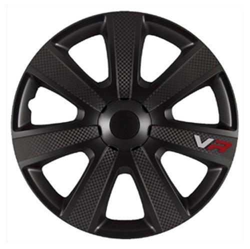 """Autostyle 4 Radzierblenden VR Black/Carbon-Look 15""""Zoll - 4-er Set"""