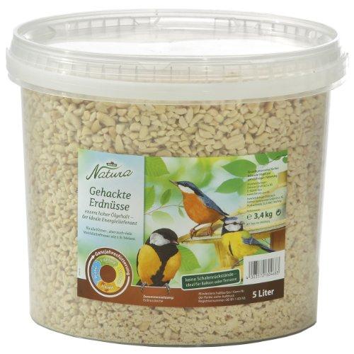 Dehner Natura Wildvogelfutter, gehackte Erdnusskerne, 5 l (3.4 kg)