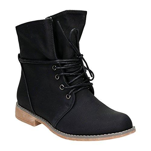 Damen Schn�r Boots Stiefeletten Warm Gef�ttert Stiefel Schuhe Schwarz EU 39