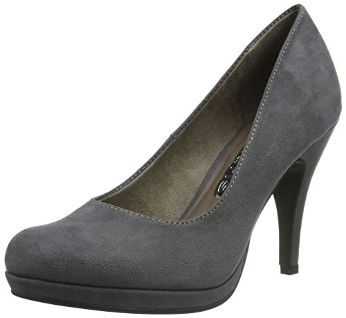 Tamaris Damen 22407 Pumps, Grau (Graphite 206), 39 EU