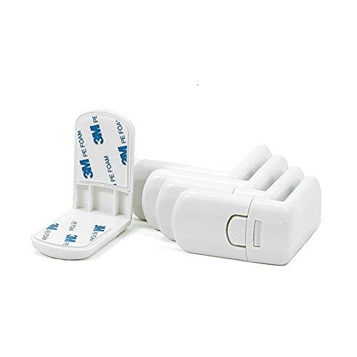 5 Stk. Offgridtec Schubladen- und Schranksicherung ohne bohren Kindersicherung zum kleben f�r Schrank Schrankschloss Kleinkind Baby