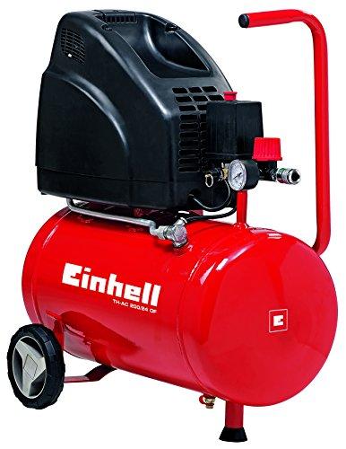 Einhell Kompressor TH-AC 200/24 OF (1,1 kW, 24 L, Ansaugleistung 140 l / min, 8 bar, �lfrei, gro�e R�der und Halteb�gel)