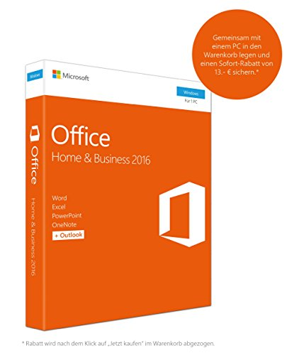 Microsoft Office Home and Business 2016 (Product Key Card ohne Datentr�ger)