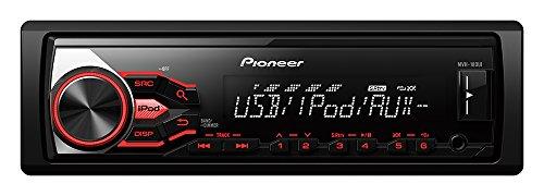 Pioneer MVH-180UI Autoradio mit RDS, USB und AUX-Eingang f�r Apple iPod/iPhone Direktsteuerung/FLAC-Dateien (1-DIN) schwarz