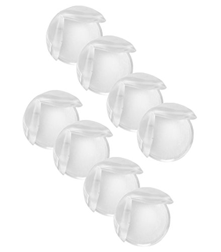 COM-FOUR� Tisch-Eckschutz Silikon Sto�schutz zum Schutz f�r Babys und Kleinkinder transparent inklusive starkhaftendes Klebeband (08 St�ck)