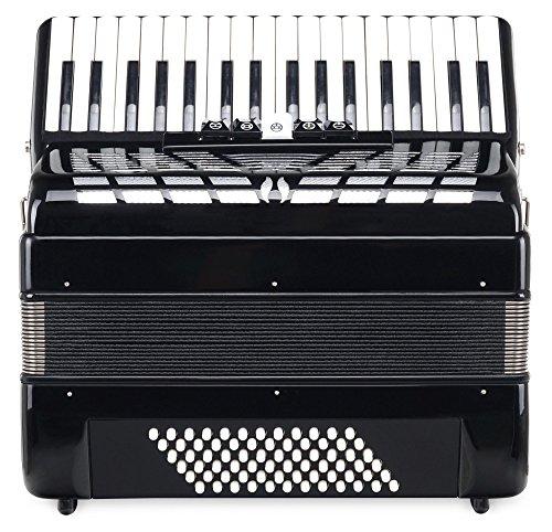 Classic Cantabile Secondo III 72 Bass Akkordeon (Tastenakkordeon, 3-ch�rig, 34 Diskanttasten) mit Riemen/Tasche schwarz