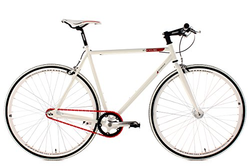 KS Cycling Fahrrad Fitness-Bike Single Speed Essence RH 56 cm, Wei�, 28, 390B