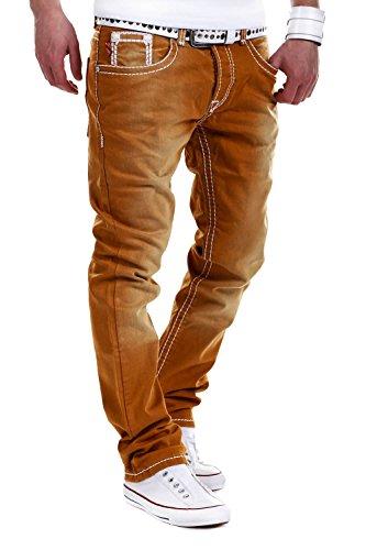 Jeans-Style Dicke Naht Jeans Braun RJ-112 [W34/L32]
