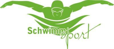 Wandtattoo f�r Jugendzimmer Sticker Sport Fitness Schwimmer mit Schwimmsport (94x40cm//063 lindgr�n)