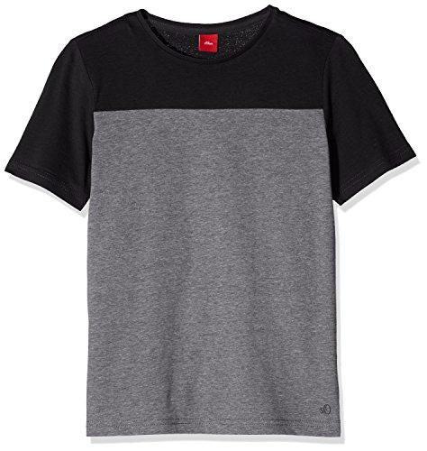 s.Oliver Jungen T-Shirt 61.607.32.2953, Grau (Dark Grey Melange Aop 98W9), 164 (Herstellergr��e: L/REG)