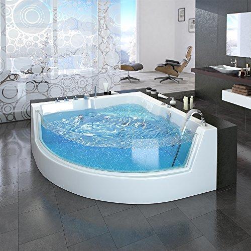 Whirlpool Eckbadewanne Badewanne Wanne 2 Personen Heizung Pool Luxus Panorama Fenster