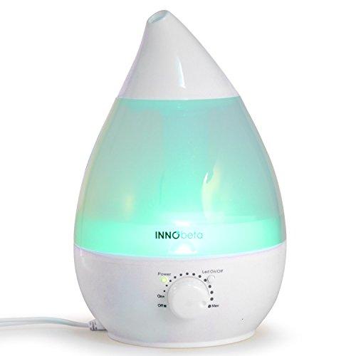InnoBeta� 2,4 Liter Ultraschall-Luftbefeuchter Cool Mist mit Filter, Aromaverteiler - Die ganze Nacht hindurch, Leise, AutomatischeAusschaltung,langlebig, 7-farbige LED-Lichter