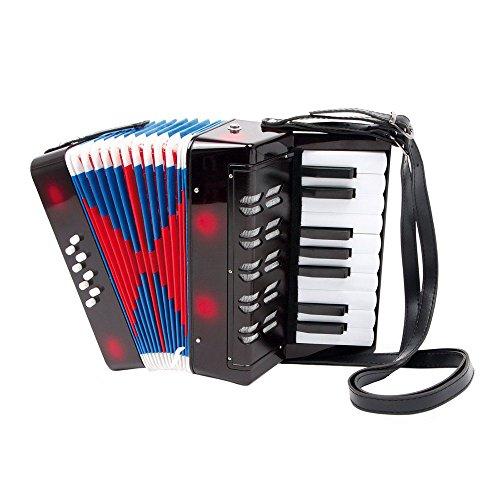 Akkordeon f�r Kinder, mit Schulterriemen zum bequemen Bespielen, viele Tasten f�r die verschiedensten Melodien