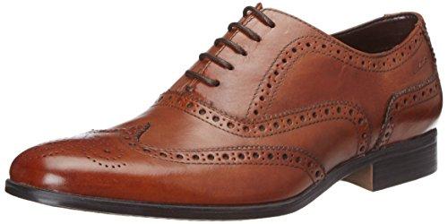 Clarks Banfield Limit, Herren Oxford Schn�rhalbschuhe, Braun (Tan Leather), 43 EU (9 Herren UK)