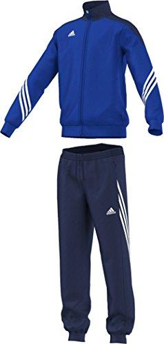 adidas Unisex - Kinder Trainingsanzug Sereno14, Top:cobalt/new navy/white Bottom:dark blue/white, 152, F49716