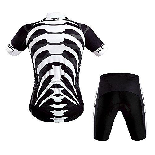 Lixada Fahrrad Trikot Bike Jersey+ Shorts atmungsaktiv Reiten Jacke Hose f�r Outdoor Radfahren
