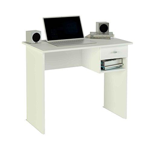 Meka-Block K-9453B - Schreibtisch, 1 Schublade, 90 cm breit, Farbe: wei�.