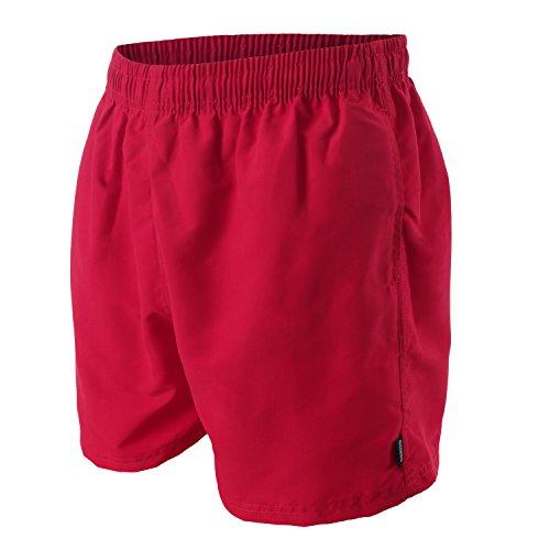 OAHOO Herren Badeshorts Deep Red-4XL