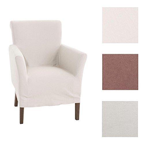 CLP Polster-Sessel VIVIAN mit abnehmbarer Husse, bietet langlebigen Sitzkomfort, Sitzh�he 48 cm, FARBWAHL beige