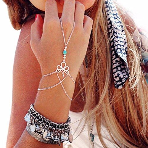 Sunnywill Sch�nen Retro-Armband Finger Ring Armreif Slave Modekette