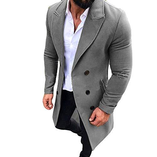 Batnott Herren Winterjacke Warm Oversize Schwarz Taste Elegant Anzug Casual  Mantel Modern Mens Langarm Slim Fit e534d5710d