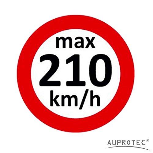 Geschwindigkeitsaufkleber Winterreifen Aufkleber 160 - 240 km/h Auswahl: (10 St�ck, 210 km/h)