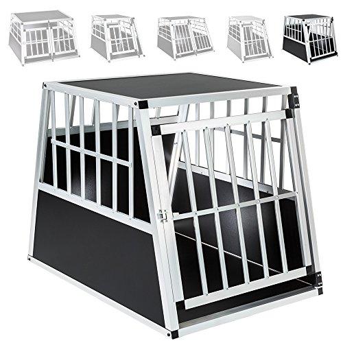 TecTake Alu Hundetransportbox -diverse Gr��en- (Schr�ge R�ckseite / Single Gro�)