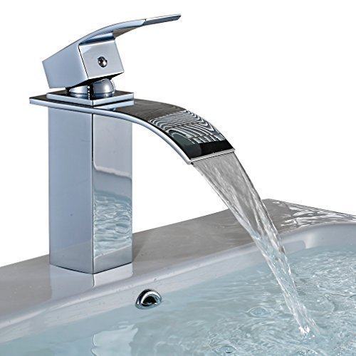 Auralum� Elegant Einhebel Mischbatterie Wasserhahn Armatur Waschtischarmatur Wasserfall Einhandmischer f�r Bad Badezimmer Waschbecken