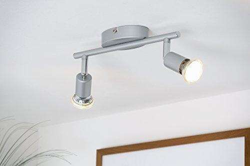 LED Deckenleuchte LED Deckenlampe LED Deckenspot LED Deckenstrahler GU10 warmwei� schwenkbar titanfarbig