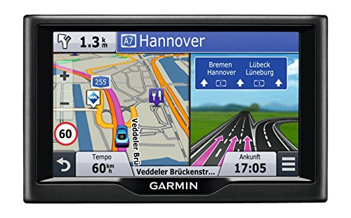 Garmin n�vi 57LMT Navigationsger�t (lebenslange Kartenupdates, Premium Verkehrsfunklizenz, 12,7cm (5 Zoll) Touchscreen)
