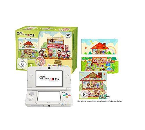 New Nintendo 3DS - Konsole, wei� + Animal Crossing Happy Home Designer + Zierblende - [3DS]
