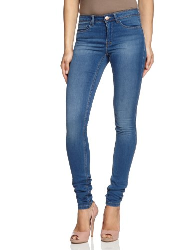 ONLY Damen Jeans 15077789/REG SOFT ULTIMATE PIM203 NOOS Skinny, Slim Fit (R�hre) ,Normaler Bund , Blau (Medium Blue Denim),Gr.  W 38/L30 (Herstellergr��e: M)