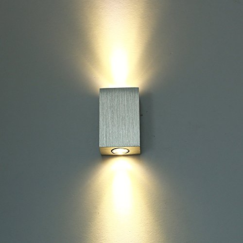 LED Wandleuchte innen Wandlampe Flurlampe Treppenleuchten Deckenleuchte up down effekt 6W (Warmwei�)