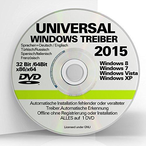 Universal Treiber Software CD / DVD f�r PC-Notebook mit Betriebssysteme Windows 10 � Windows XP Vista Win7 und Windows8 32/64 NEU ORIGINAL von STILTEC �