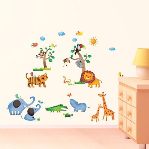 DW-1206 Dschungel Baby Zimmer Peel & Stick Nursery Wandtattoo Aufkleber