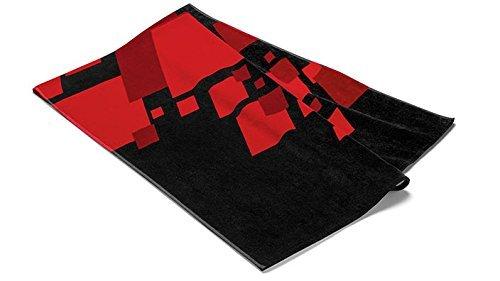 Unisex Strandlaken, Audi Sport, schwarz/rot