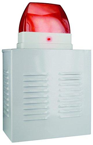 Smartwares Dummy Alarmanlagen-Fassandenbox mit Blink-LED, Sirene, SW SA11D