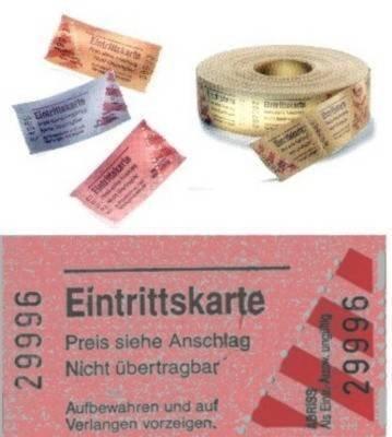 Rollen-Eintrittskarten, 1000 Abrisse, rot