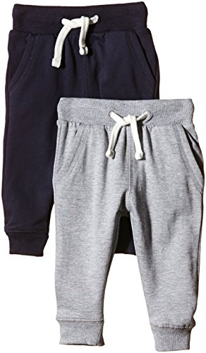 Magic Kids Jungen Sweathose, 2er Pack, Gr. 104, Blau (Dark Navy 778)
