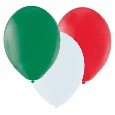 20 Ballons in L�nderfarben Italien gr�n wei� rot