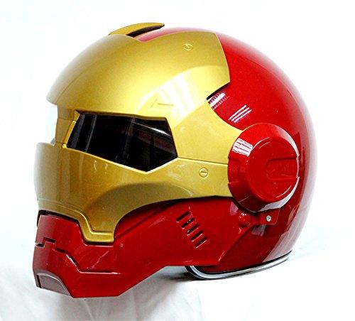 Generisches masei 610 redgold atomicman racing motorrad dot helm s m l xl (rot)