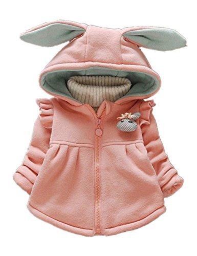 Sevenelks Baby M�dchen Winterjacke Kinder mantel Jacke Kapuze mit ohren 0-3 Jahre