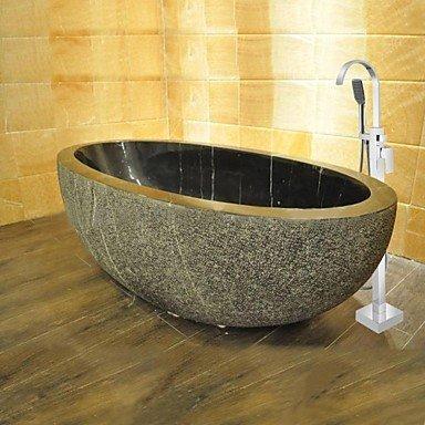 DF massivem Messing modernen bodenstehend Badewanne Dusche Wasserhahn mit Handbrause�-�verchromt