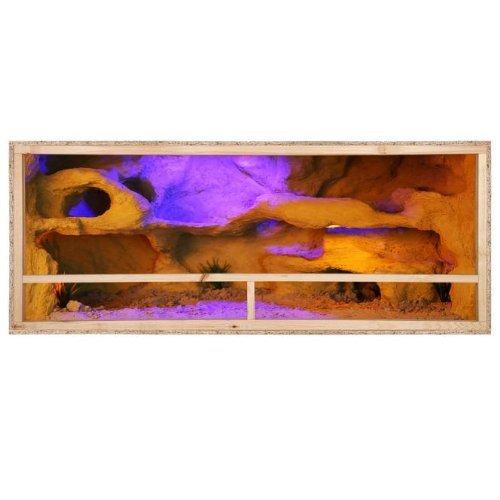 Terrarium: Holzterrarium f�r Reptilien Seitenbel�ftung 150x60x60cm, hochwertiges Terrarium aus OSB Holz, leichte Montage
