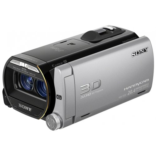 Sony HDR-TD20V 3D-Camcorder 64GB (8,9 cm (3,5 Zoll) LCD-Display, Full-HD, 20 Megapixel CMOS, 10-fach opt. Zoom, HDMI) inkl. 2 Sony G-Weitwinkel-Objektiven